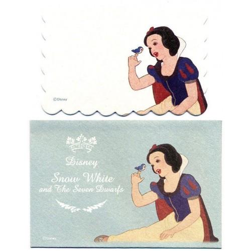 Conjunto de Mini-Cartão Importado Disney The Snow White Japan