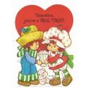 Kit 5 Mini-Cartões de Mensagem Valentines Antigo Importado Moranguinho