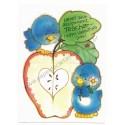 Kit 5 Mini-Cartões de Mensagem Valentines Antigo Importado Ursinhos Carinhosos2