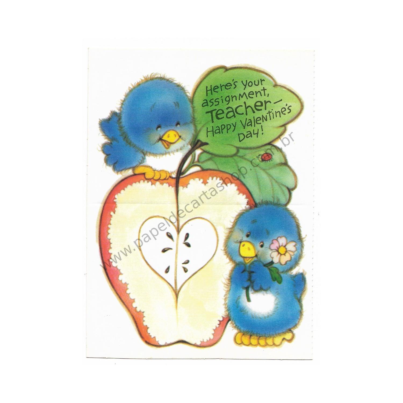 Kit 5 Mini Cartões De Mensagem Valentines Importado Care Bears2