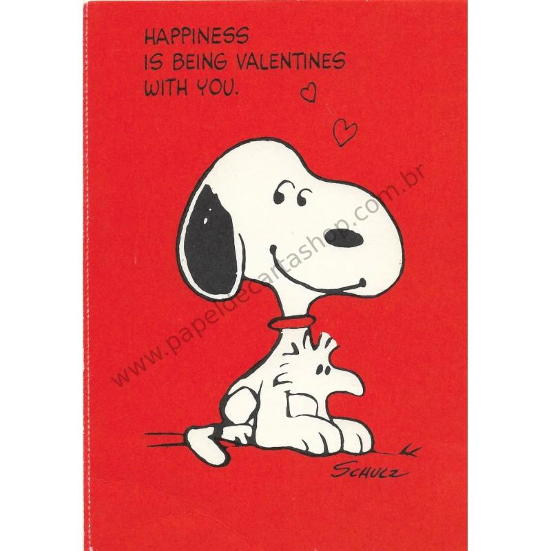 Cartão Postal Valentines Antigo VINTAGE Importado Snoopy
