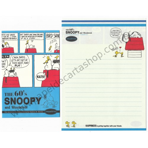 Kit 2 Conjuntos de Papel de Carta The 60's Snoopy CAZ - Peanuts Worldwide LLC