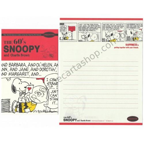 Kit 2 Conjuntos de Papel de Carta The 60's Snoopy CLA - Peanuts Worldwide LLC