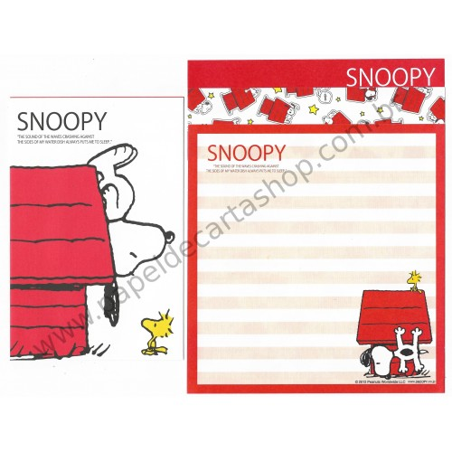 Kit 4 Conjuntos de Papel de Carta SNOOPY CVM - Peanuts Worldwide LLC