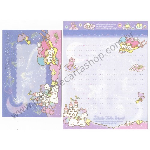 Ano 2014. Conjunto de Papel de Carta Little Twin Stars Night Sky II Sanrio
