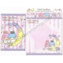 Ano 2013. Kit 2 Conjuntos de Papel de Carta Little Twin Stars Animals Sanrio