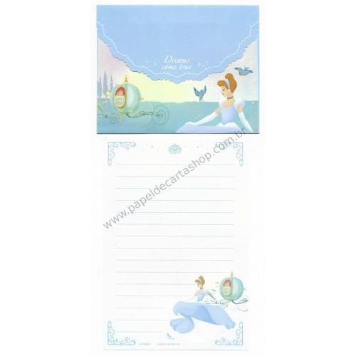 Conjunto de Papel de Carta P Disney Cinderella Dreams Come True CAZ
