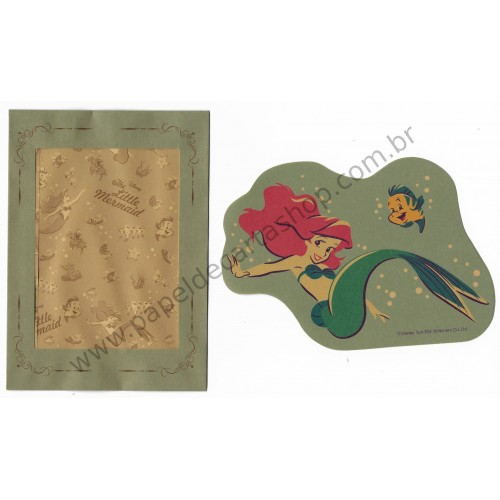Conjunto de Papel de Carta Disney Little Mermaid P Sun-Star (CVD)