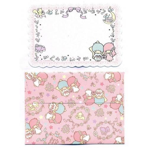 Ano 2013. Mini-Cartão de Mensagem Little Twin Stars Sanrio