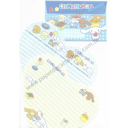 Ano 2006. Conjunto de Papel de Carta Cinnamoroll Shopping Sanrio