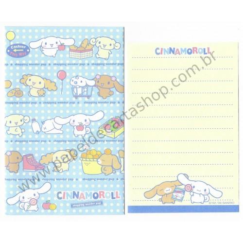 Ano 2006. Conjunto de Mini-Papel de Carta Cinnamoroll Shopping Sanrio