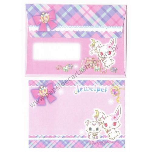 Ano 2011. Conjunto de MINI Papel de Carta Jewelpet CLL Sanrio/ SEGA TOYS
