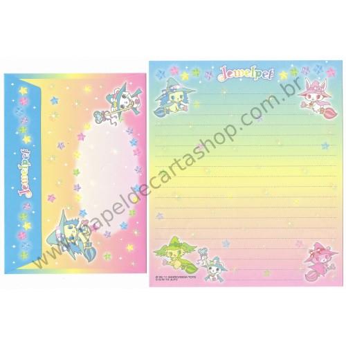Ano 2011. Conjunto de Papel de Carta Jewelpet CAZ Sanrio/ SEGA TOYS