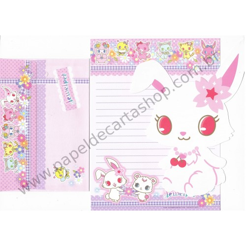 Ano 2012. Conjunto de Papel de Carta Jewelpet MRS Sanrio/ SEGA TOYS