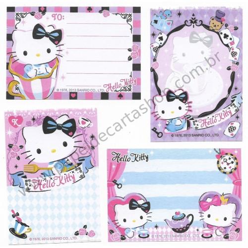 Ano 2013. Kit 4 Notas Hello Kitty Alice Sanrio