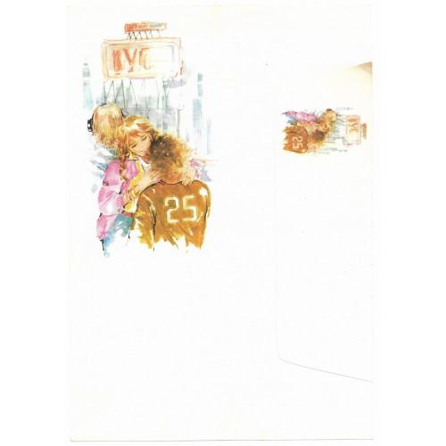 Conjunto de Papel de Carta Antigo Coleção Miss Sprite 01G D1