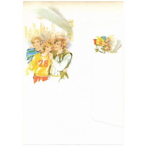 Conjunto de Papel de Carta Antigo Coleção Miss Sprite 01G D2