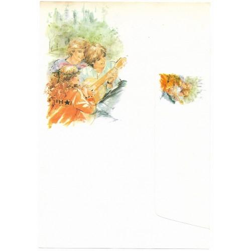 Conjunto de Papel de Carta Antigo Coleção Miss Sprite 01G D3