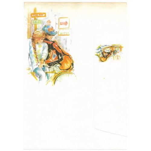 Conjunto de Papel de Carta Antigo Coleção Miss Sprite 01G D4