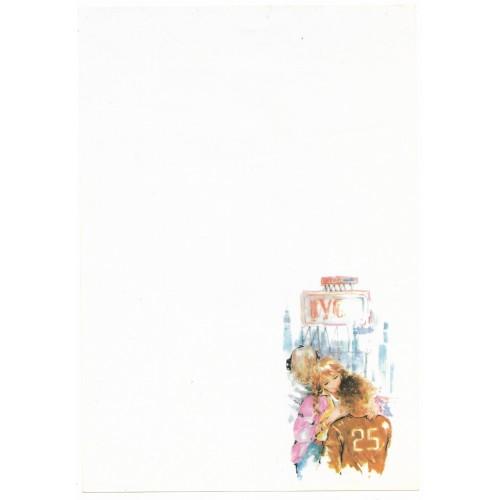Papel de Carta Antigo Coleção Miss Sprite 01M D1