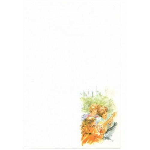 Papel de Carta Antigo Coleção Miss Sprite 01M D3