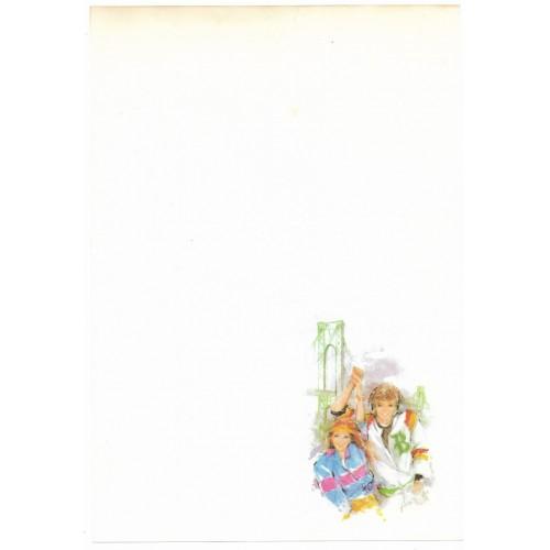 Papel de Carta Antigo Coleção Miss Sprite 01M D5