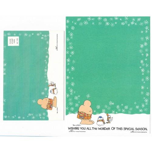 Conjunto de Papel de Carta Antigo Importado Ziggy Green