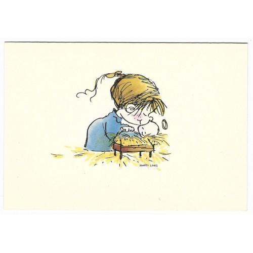 Ano 1980 Cartão ANTIGO Importado G Marty Links Branco