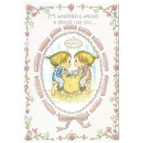 Ano 1973. Cartão ANTIGO Importado Betsey Clark Valentines I