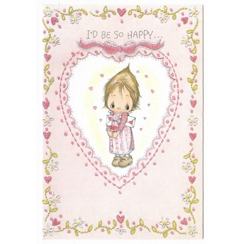Ano 1973. Cartão ANTIGO Importado Betsey Clark Valentines II