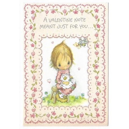 Ano 1973. Cartão ANTIGO Importado Betsey Clark Valentines III