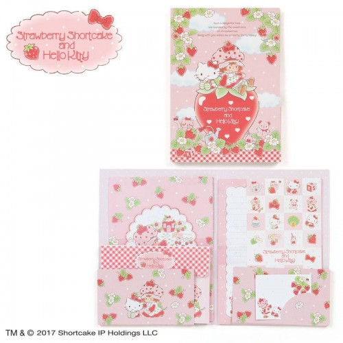 Ano 2017. Conjunto de Papel de Carta Hello Kitty & Moranguinho Sanrio