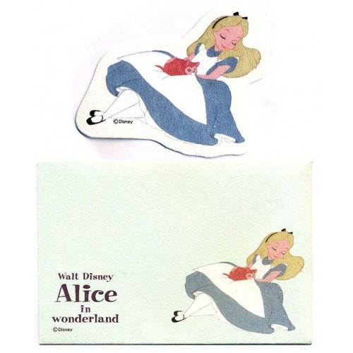 Conjunto de Mini-Cartão de Mensagem Disney ALICE Japan