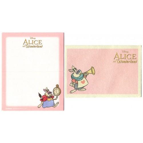 Conjunto de Mini-Cartão de Mensagem Importado Disney ALICE Japan