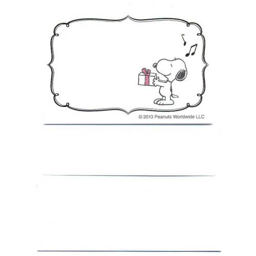 Conjunto de Mini-Papel de Carta Importado Peanuts Snoopy Gift Japan