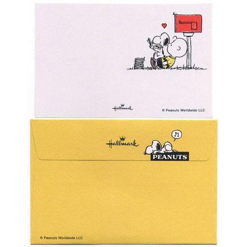 Conjunto de Mini-Cartão de Mensagem Importado Peanuts Snoopy CAM Japan