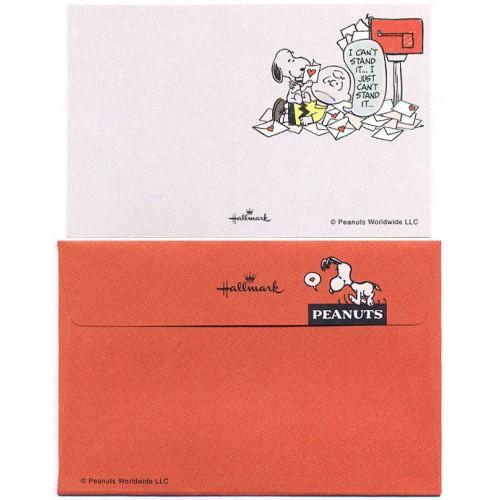 Conjunto de Mini-Cartão de Mensagem Importado Peanuts Snoopy CLA Japan