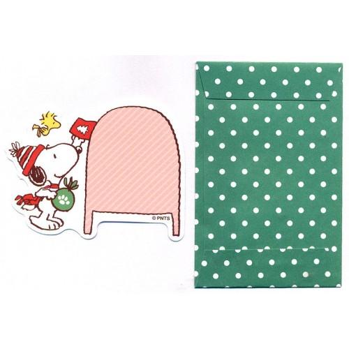 Conjunto de Mini-Cartão de Mensagem Importado Peanuts Snoopy Dots CVDI Japan