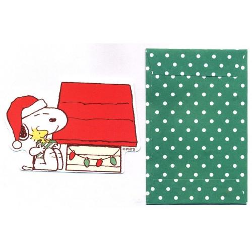Conjunto de Mini-Cartão de Mensagem Importado Peanuts Snoopy Dots CVD Japan