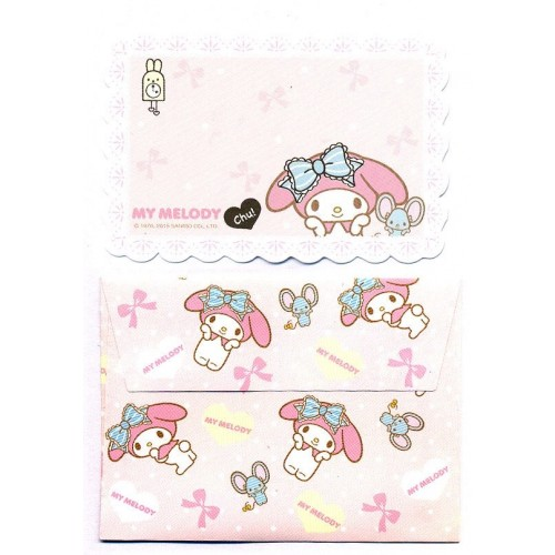 Ano 2015. Mini-Cartão de Mensagem My Melody CHU Sanrio