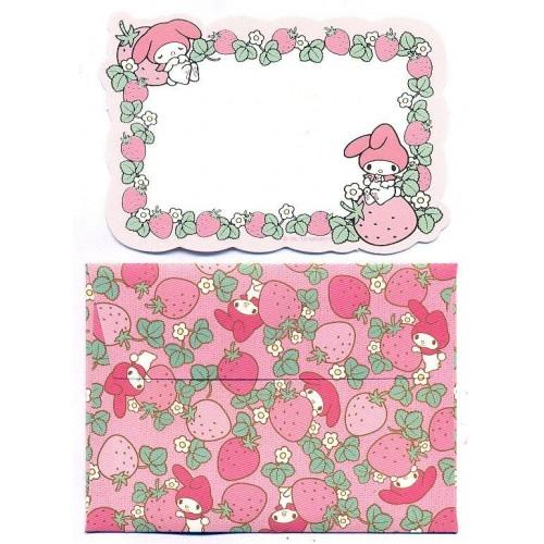 Ano 2013. Mini-Cartão de Mensagem My Melody Strawberry Sanrio