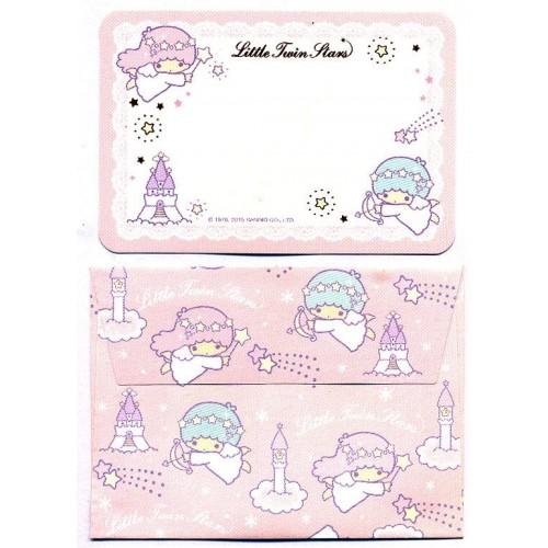 Ano 2015. Mini-Cartão de Mensagem Little Twin Stars Castle Sanrio