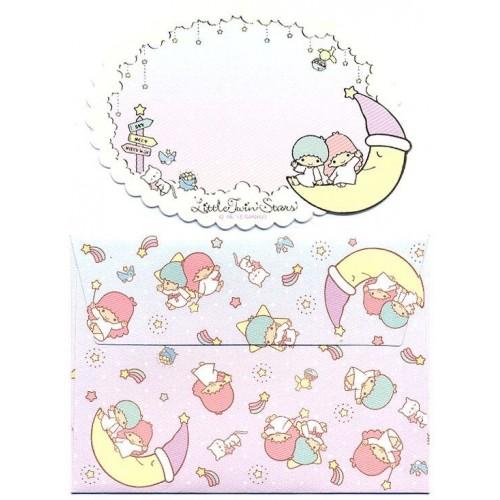 Ano 2015. Mini-Cartão de Mensagem Little Twin Stars Moon Sanrio