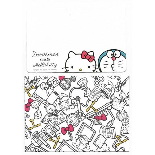 Ano 2015. Kit Mini-Cartão de Mensagem Doraemon meets Hello Kitty Sanrio
