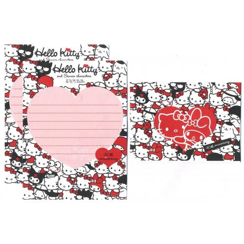 Ano 2014. Conjunto de Mini-Papel de Carta Hello Kitty & SANRIO CHARACTERS 40th Anniversary