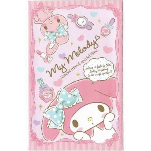 Ano 2014. Mini-Envelope MY MELODY Special Time Sanrio
