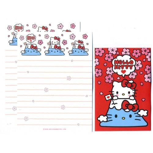 Ano 2013. Conjunto de Mini-Papel de Carta Hello Kitty Fuji Sanrio