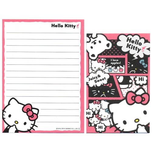 Ano 2014. Kit 2 Conjuntos de Mini-Papel de carta Hello Kitty CPN Sanrio