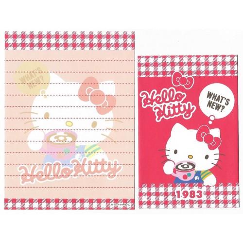 Ano 2013. Conjunto de Mini-Papel de Carta Hello Kitty 40th (1983 II) Sanrio