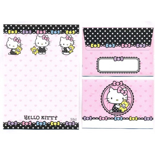Ano 2011. Conjunto de Mini-Papel de carta Hello Kitty CRS1 Sanrio